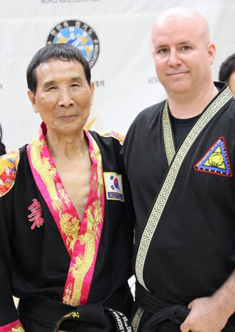 Master Chris Fortin and In Sun Suh in Korea.